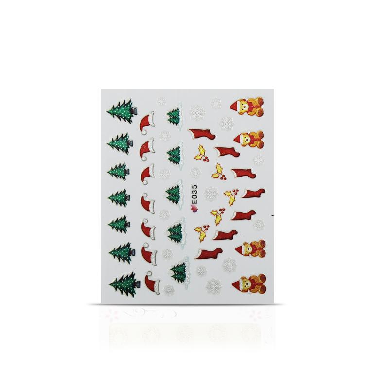 Vianočná nálepka na nechty 035