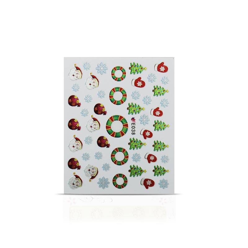 Vianočná nálepka na nechty 038