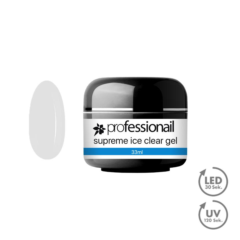 UV Gél jednofázový ICE CLEAR 33ml Professionail PREMIUM - black edition