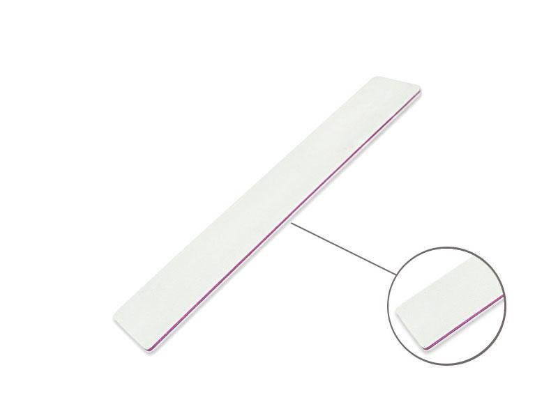 Profesionálny pilník široký biely 100/180