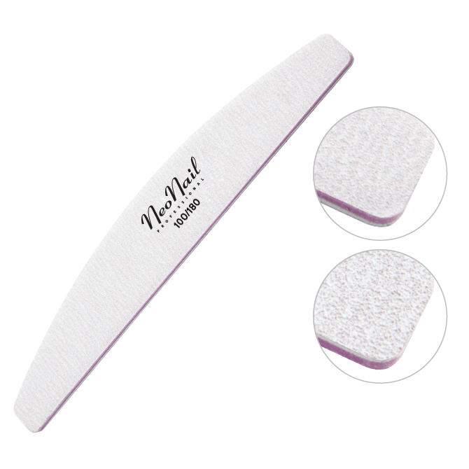 Profesionálny pilník na nechty NeoNail® pôlmesiačik 100/180