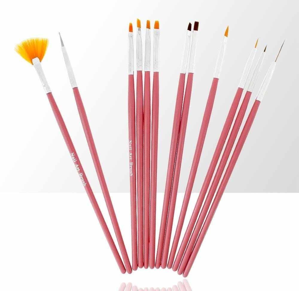 Sada 12 štetcov na UV gély, akryl a zdobenie Professionail Pink